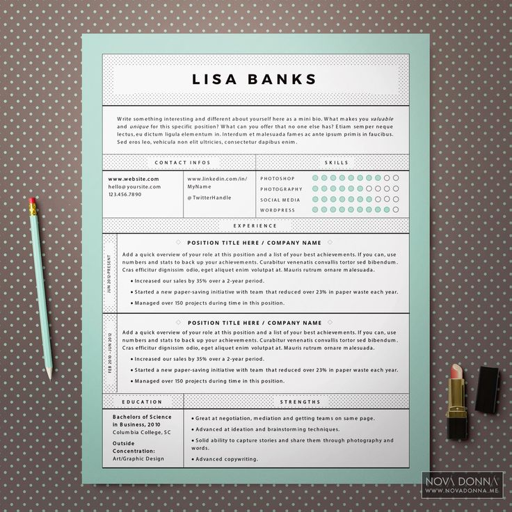 12 Best Resume Template Designs Images On Pinterest | Cv Template