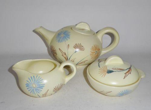 Keramik-Teeservice ELSTERWERDA Siegfried MÖLLER U. Fesca ART DECO Carstens (K) in Antiquitäten & Kunst, Porzellan & Keramik, Keramik | eBay