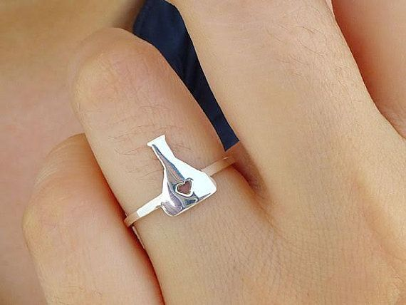 ►►DESCRIPTION  This listing is for ONE sterling silver flask ring. All rings are made to order which takes 2 weeks. Very comfortable to wear.