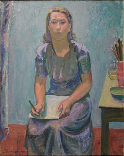 Tove Jansson, self-portrait.