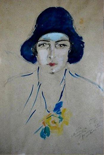 Filippo de Pisis - Ritratto di Paola Masino, 1930