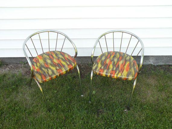 Mid Century Modern Atomic Childrens Chair Chrome Retro Childs Furniture Industrial Kid Chair 1960s Design Vintage Nursery Room