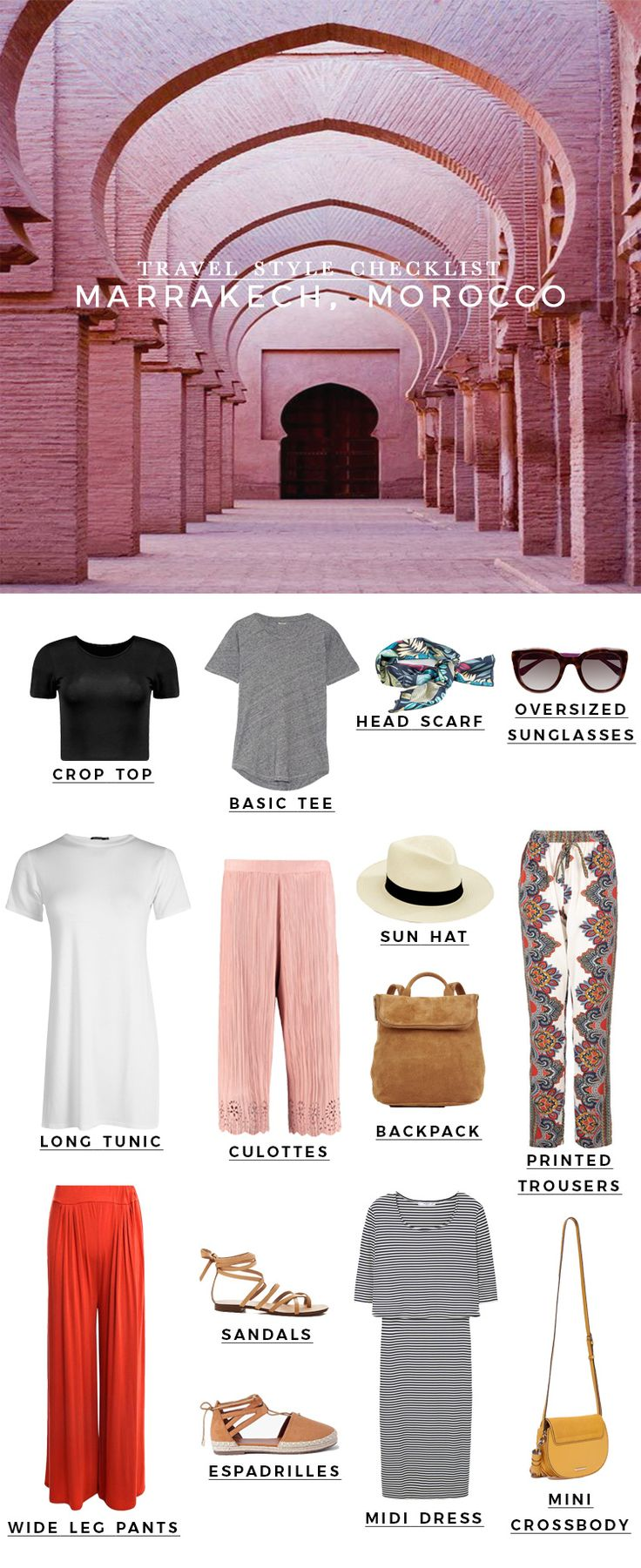 Travel style checklist: 4 days in Marrakech, Morocco
