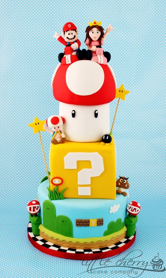 Mario Cake Mario Bros Party Ideas And Cakes Pinterest