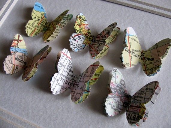 Turn your favorite places into wall art with maps. (via @BrightNest blog) #DIYWall Art, Artsy Things, Maps Butterflies, Favorite Places, Maps Crafts, 19 Diy, Art Ideas, Brightnest Blog, Diy Projects