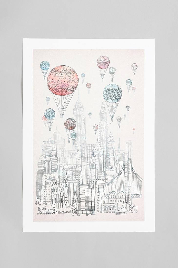 David Fleck For Society6 Voyages Over New York Art Print