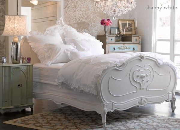 : Decor, Idea, Dreams, White Beds, White Bedrooms, Beds Frames, Guest Rooms, Shabby Chic Bedrooms, Guestrooms