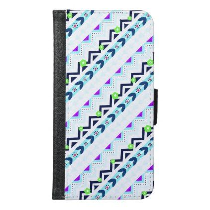 Aztec Girl Wallet Phone Case For Samsung Galaxy S6 - unusual diy cyo customize special gift idea personalize