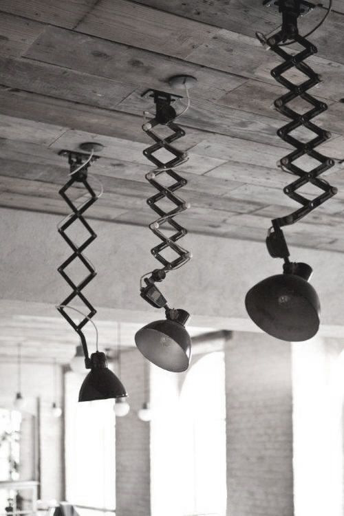 industrial lighting ideas. industrial lighting made with acordion type sconce mount multiple on the ceiling and use like ideas