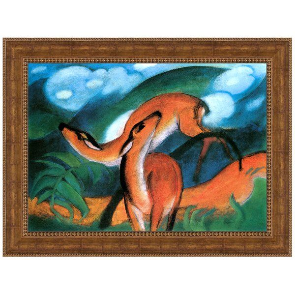 Red Deer Ii 1912 By Franz Marc Framed Painting Print Painting Frames Painting Design Toscano