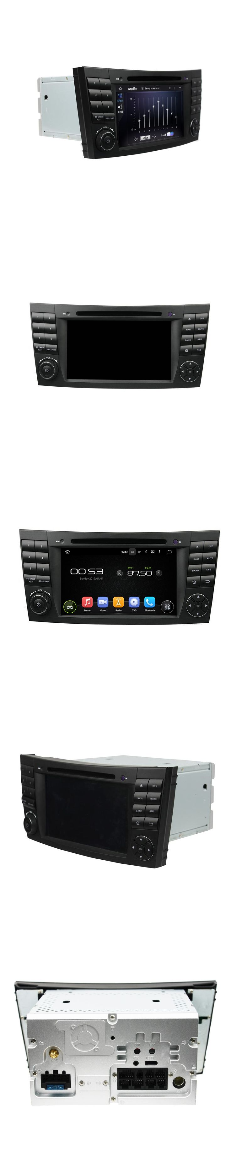 7 Inch Android 5.1.1 Quad Core HD1024*600 Car DVD For BENZ With Navigation Bluetooth Radio WIFI For W211 W219 W463 2002-2008
