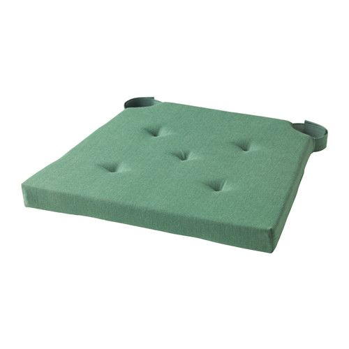 IKEA - JUSTINA, Chair pad, , Polyurethane foam provides great comfort and long-lasting support.Hook and loop fasteners keep the chair pad in place.The chair pad has two identical sides so it can be turned over for even wear.Machine washable for easy care.