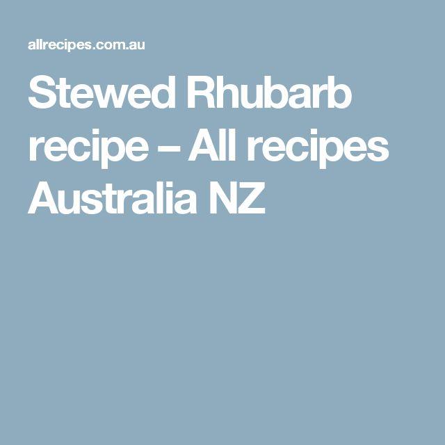 Stewed Rhubarb recipe – All recipes Australia NZ