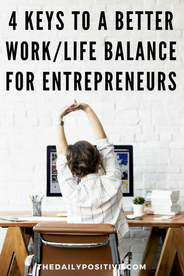 A recent study found that about half of all U.S. entrepreneurs work at least 50 hours a week, and 20% work 60 or more. If you're not balancing your work and your lifestyle, you can start to wear down. The solution is to develop a better work/life balance.