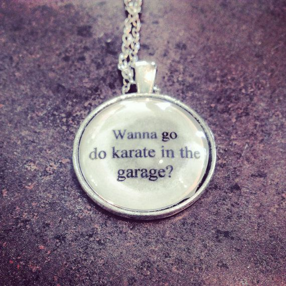 Step Brothers Karate In The Garage Quote: Step Brothers Karate Movie Quote Necklace By