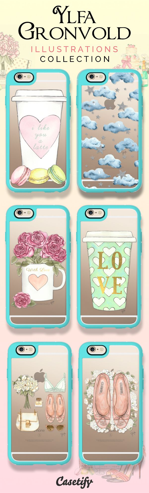 Feminine and Sweet. Shop these cute cases by @ylfa_gronvold on our website now! https://www.casetify.com/ylfagronvoldstudio/collection | @casetify