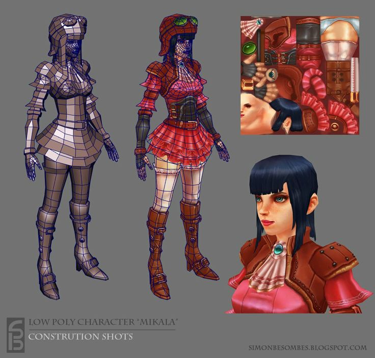 Mikala, Hand painted texture character - Polycount Forum