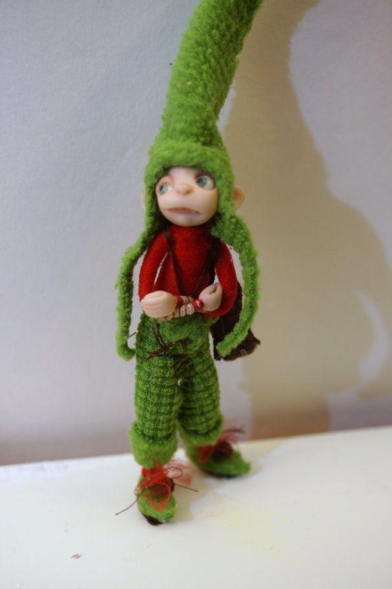 little pissed off elf pixie fairy 84 ooak by DinkyDarlings