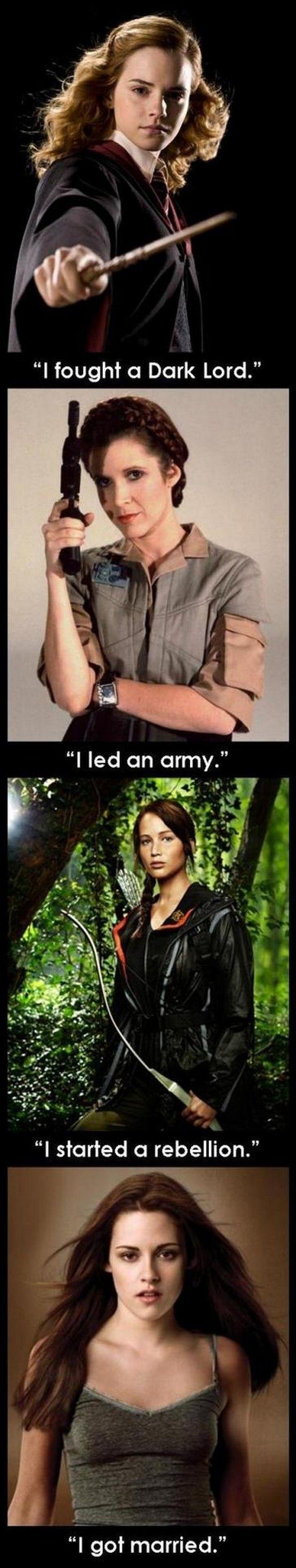 #HermonieGranger #PrincessLeia #KatnissEverdeen #BellaSwan