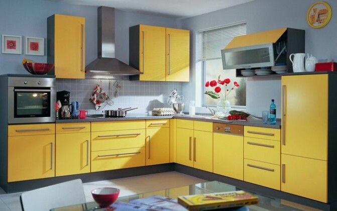 Желтые кухни: 15 примеров