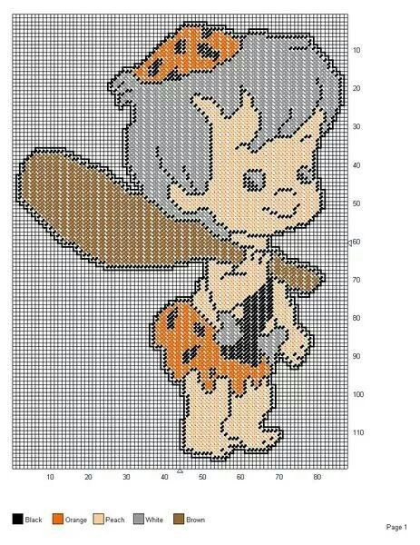 BAMM-BAMM RUBBLE OF THE FLINTSTONES -- WALL HANGING