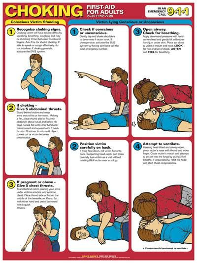 First Aid Poster - Choking First Aid (Adults)