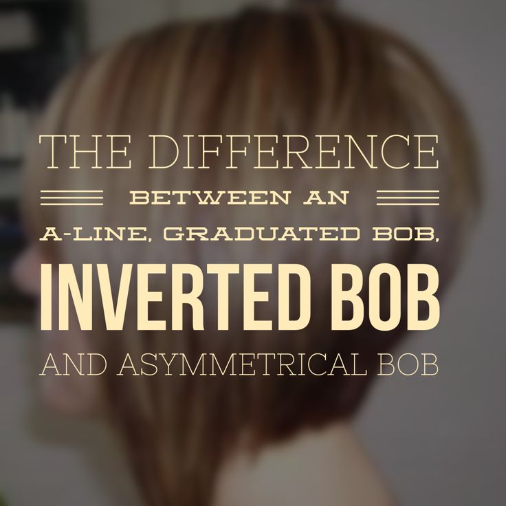 Learn all about the differences between an A-Line, Graduated Bob, Inverted Bob and Asymmetrical Bob!!