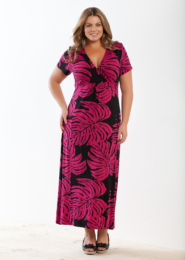 Fashion Plus Size - Large Size Womens Clothes, Tops & Dresses | Fashionable Plus Size Clothes - PARADISE MAXI DRESS - Virtual Closet.com.