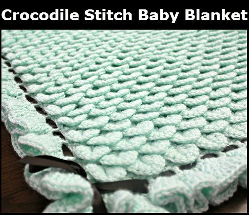 www jordan shoes Crocodile Stitch Baby Blanket  Free Pattern