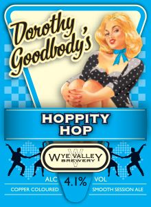 Dorothy Goodbody's Hoppity Hop- April  Hoppity Hop is back! With Herefordshire hops, Cara malt and our distinctive classic brewing style, this mouth-wateringly smooth session ale is not to be missed. 4.1% ABV