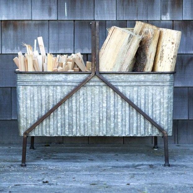 12 best log holders images on Pinterest | Fireplace ideas ...