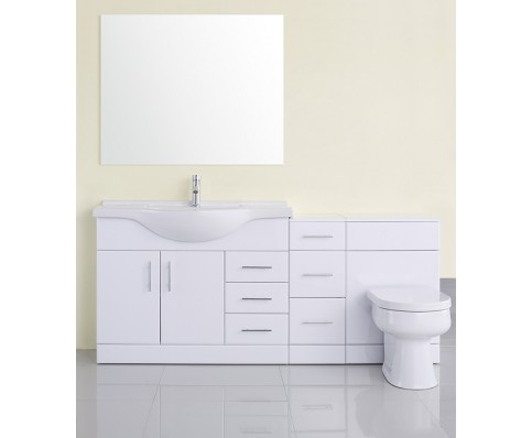 White Gloss Vanity Unit, Cupboard & WC Unit http://www.midlandsbathrooms.com/index.php/white-gloss-vanity-cupboard-unit-basin.html