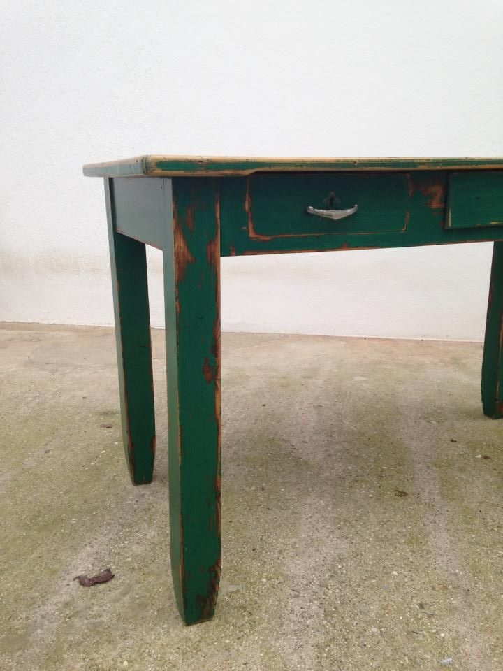 green table with octopus