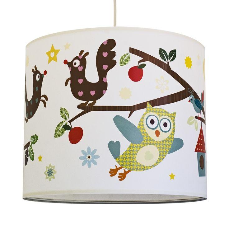Ikea Galant Jalousieschrank Weiß ~ Anna Wand Bunter Lampenschirm Waldfreunde  20cm  im Fantasyroom Shop