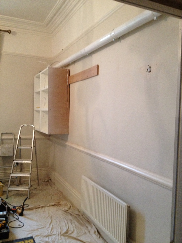 First two units fitted to wall
