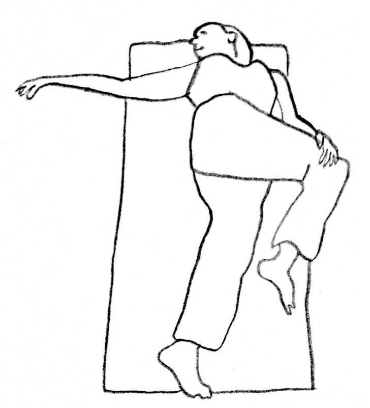 3. Estiramiento espinal Mantenlo por 20 segundos y repítelo con la otra rodilla. Hazlo cuantas veces quieras, pero sé consciente de cuánto le exiges a tu cuerpo.