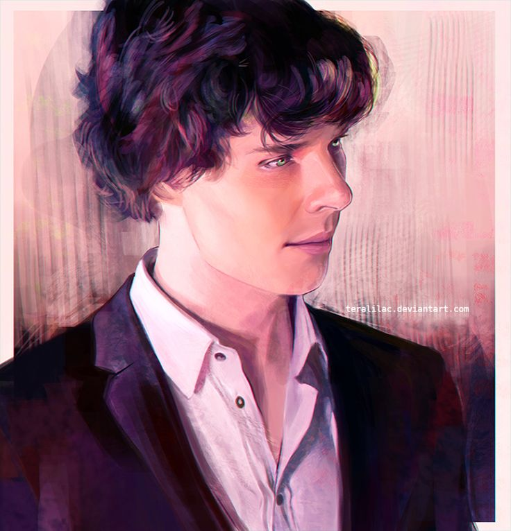 Another piece of brilliant Sherlock fanart - Sherlock portrait by teralilac on deviantART