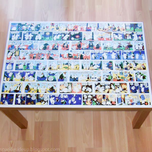 Comic Decoupage Coffee Table with Eimear - Dream a Little Bigger