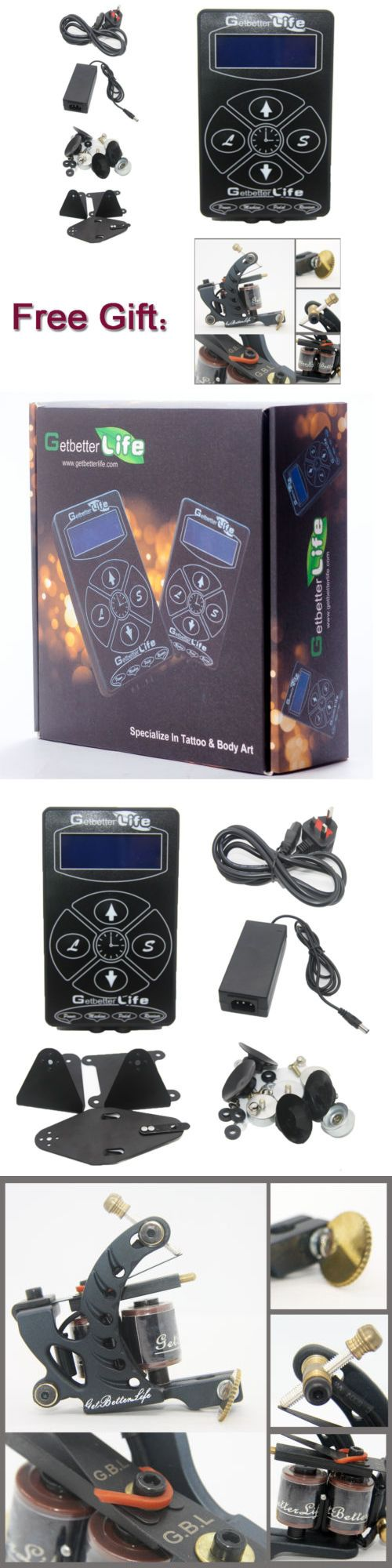 Tattoo Supplies: Pro Dual Digital Lcd Tattoo Power Supply Set Free 1Pcs Machine Gun Shader Kit -> BUY IT NOW ONLY: $39.99 on eBay!