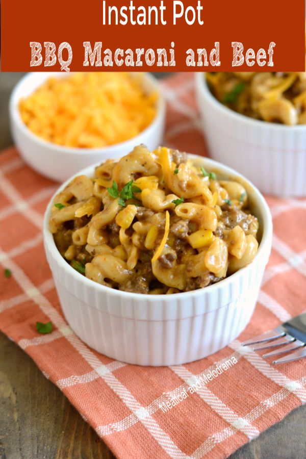 Instant Pot Bbq Macaroni And Beef Recipe Instant Pot Dinner