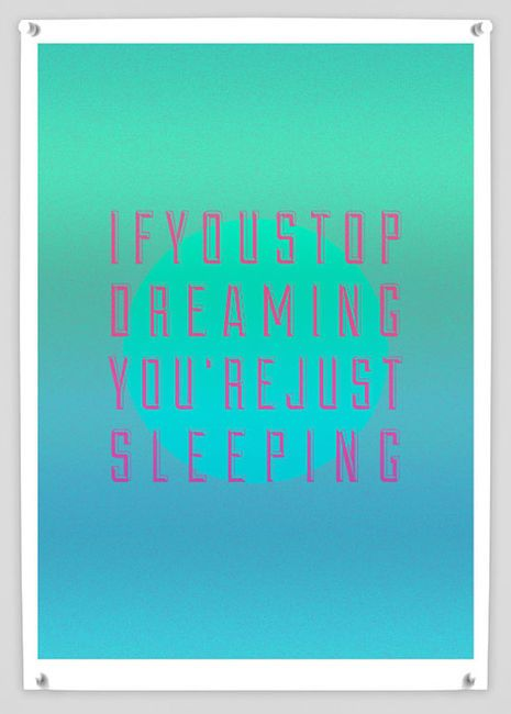 : Dream Big, Inspiration, Dream You R, Quotes, Typography Poster, Word, Sleep, Poster Quadro-Negro, Keep Dream