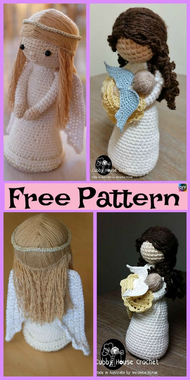 Crochet Amigurumi Doll Angel Free Patterns Crochet Knit