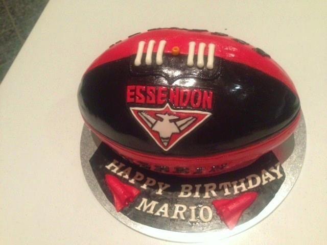 Custom made AFL Bombers  football cake