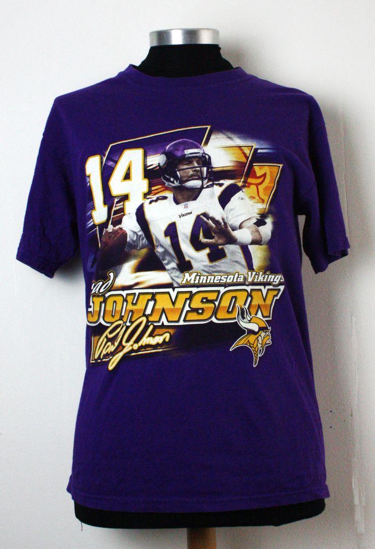 T-shirt - Minnesota Vikings Brad Johnson door 479vintage op Etsy