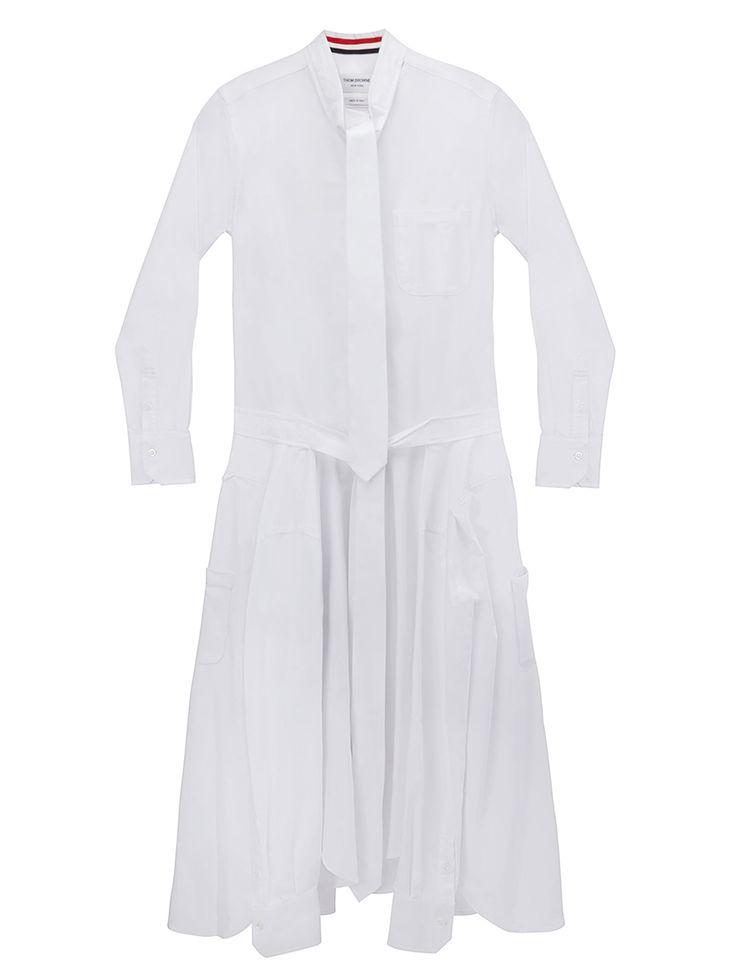 Thom Browne   Shop Women   Necktie Shirtdress In Oxford