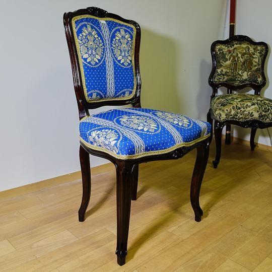 Rokokó szék, restaurálva, új kárpittal. Magyarországi futár szállítás belföldi áron lehetséges ! Számlaképes. Az ár a szállítási költséget nem tartalmazza. Banki utalás esetén a tranzakciós költség a vevőt terheli.