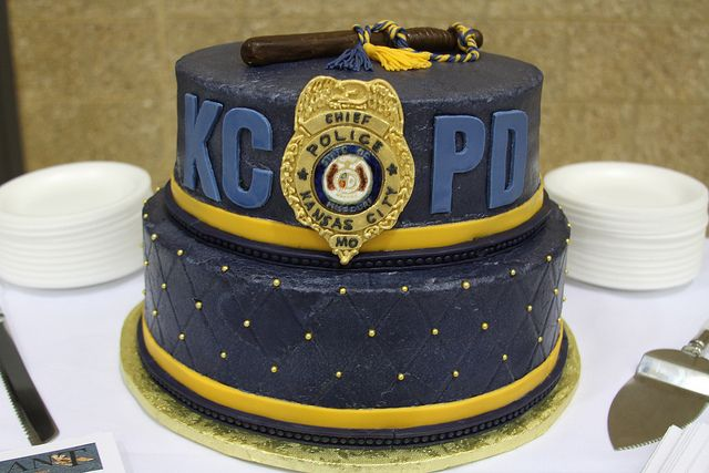 Retired Police Chief Corwin's retirement cake.