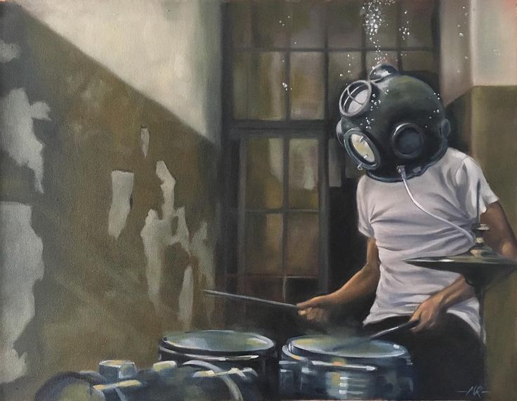 'Trap Set' 61x47cm. oil on canvas