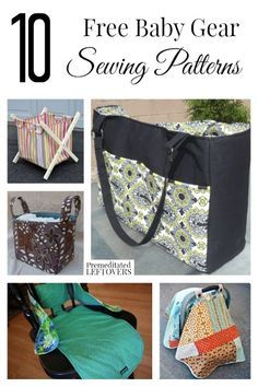 Lots of people make infant clothes, but you can also make baby gear as well! Here are 10 free baby gear sewing patterns for diaper bags, toys and more!