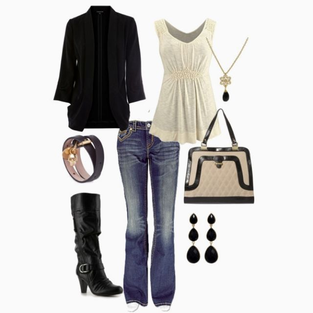 Back in Black.Fashion, Black Clothing, Design Clothing, Style, Black And White, Black White, White Outfit, Fall Outfit, Cute Outfit